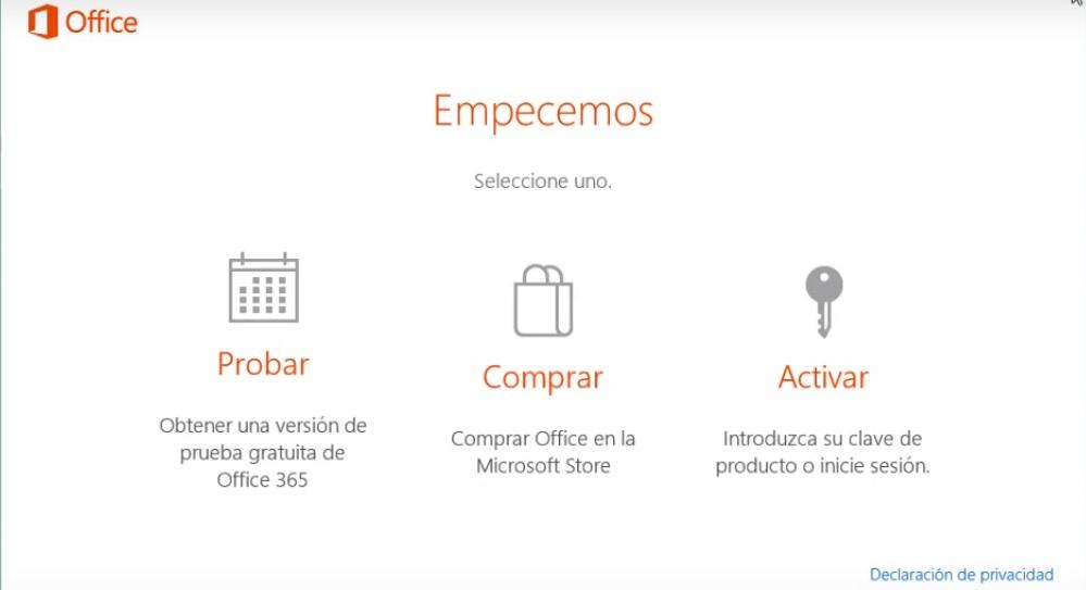 Quitar mensaje de Office «Probar, Comprar, Activar»